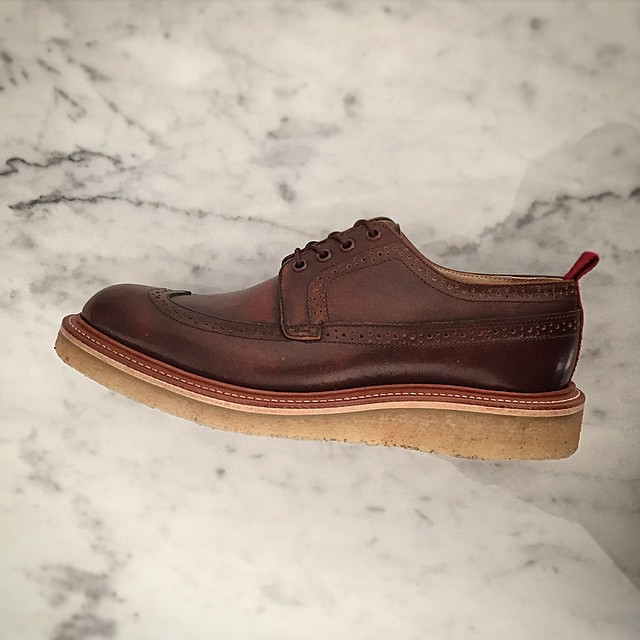 Custom pair of Winthrop longwings in saddle brown with natural crepe wedge outsoles 1/1 but thinking this should make it to our main line. Thoughts? ------------------------------------------------------- #wellbredco #americanmade #madeinamerica #madetolast #madeinusa #handcrafted #winthrop #longwings #shoesoftheday #shoeporn #shoegame #eyeonstyle #dapper #dappershoes #dappermen #fashion #mensfashion #gq #esquire