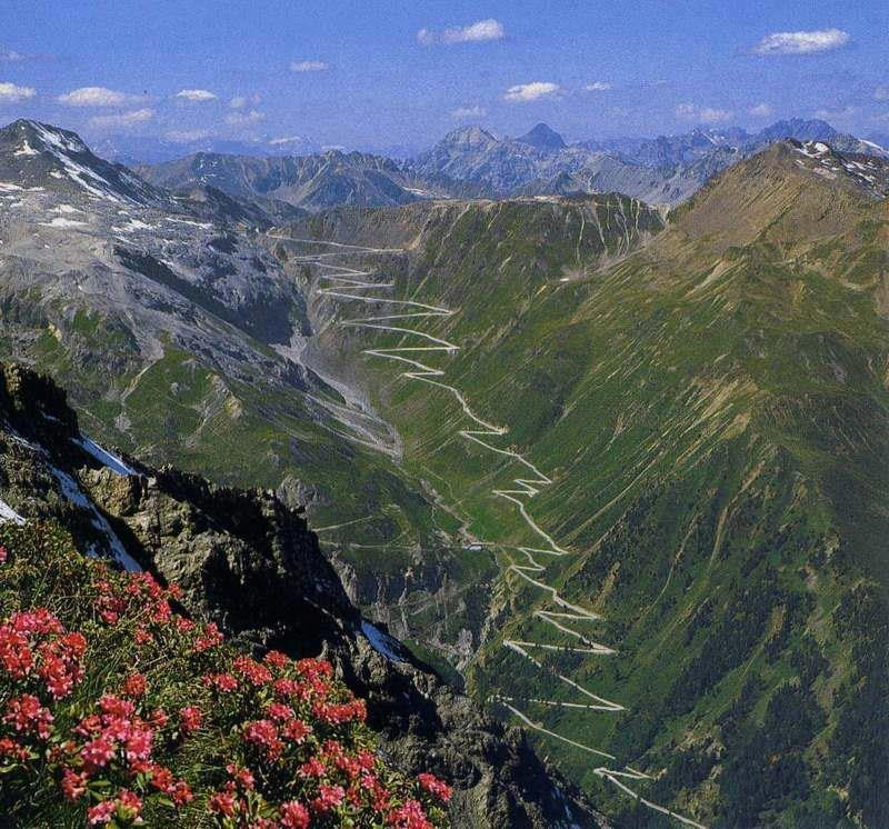 The iconic Stelvio from Bormio side.