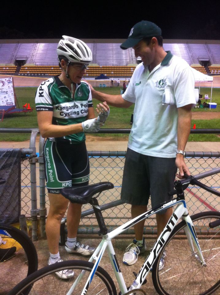 @KangarooPointCC Captain Jacinta is just about to roll on to the track for the 500m Time Trial! #QLDMasters