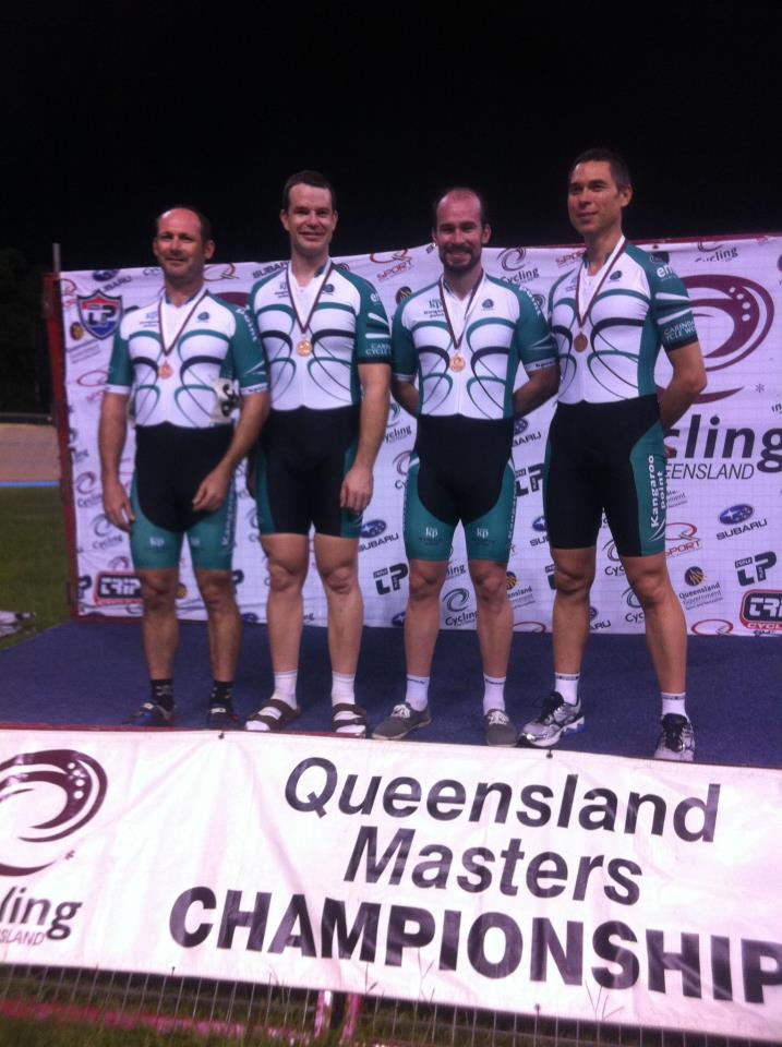 Well done TeamKp masters teams pursuit. Bronze medal winners and only their second ride together as a team!