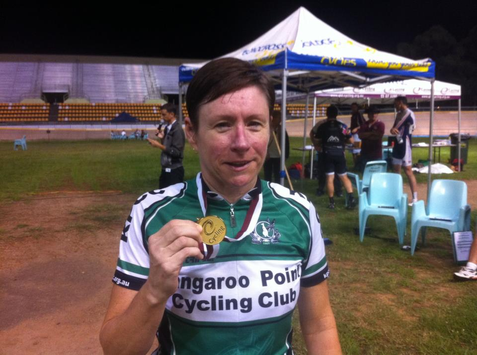 @KangarooPointCC Club Captain Jacinta with her second gold medal for the weekend at the @QLDcycling #QLDmasters!