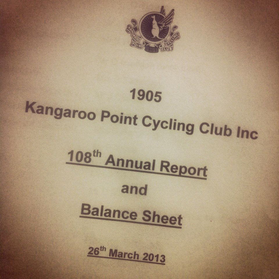 As the oldest Cycling Club in Queensland, the President has just tabled our 108th Annual Report! #historic