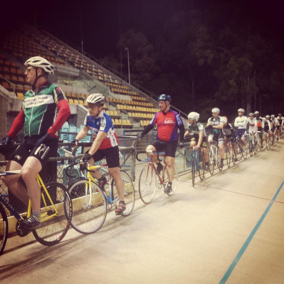 Busy night at @kangaroopointcc Club Track Training! Good thing the weather held out! — with Lars Bendall,Steven George, Sam Channells, Dominic Doan andAaron Urquhart.