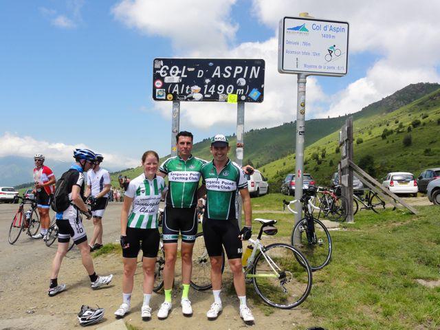 TeamKP summits Col d Aspin at 1490m