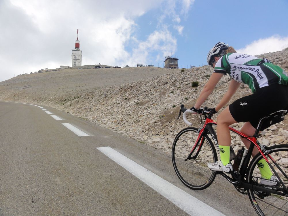 Close to the summit, the gradient kicks up and it's a tough ride to the top! You can never really judge a TDF rider for losing a two man duel to the top of the mountain until you've been there to feel it!