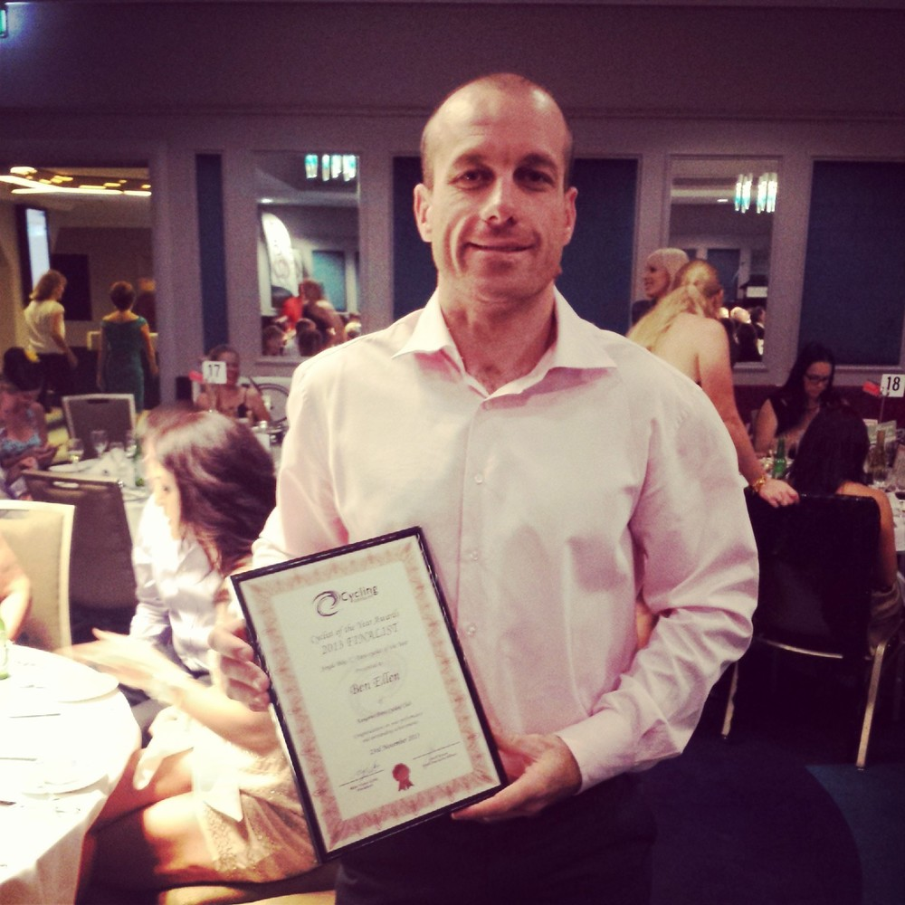 Mr Ben Ellen with his framed award certificate.