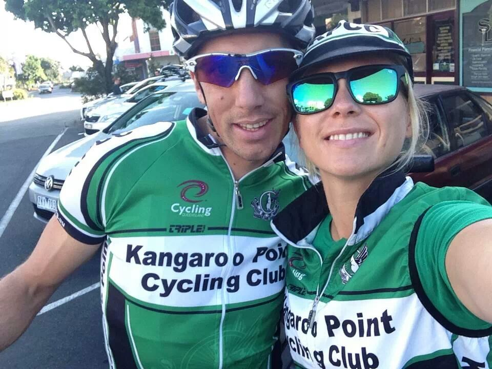 Kieran with his supportive partner Raine who is also a member of the Kangaroo Point Cycling Club!