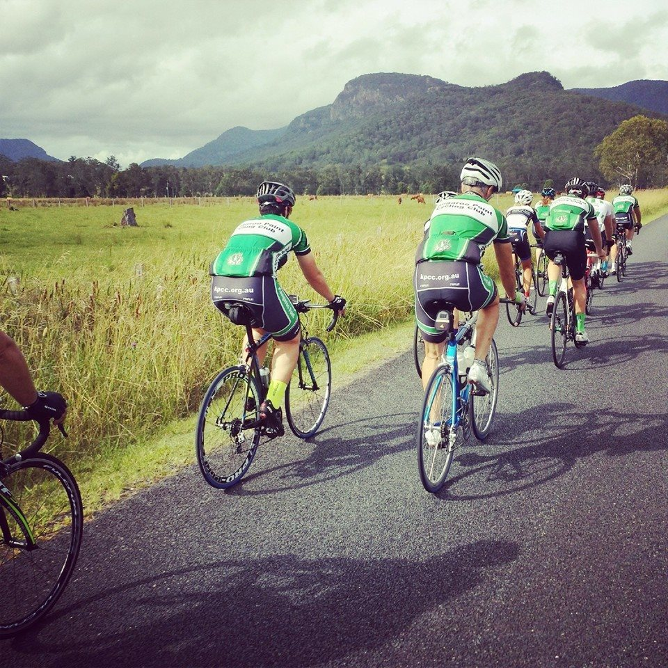 Rolling through the Numinbah Valley. The place is made for us with all of the green, white and black in the landscape!