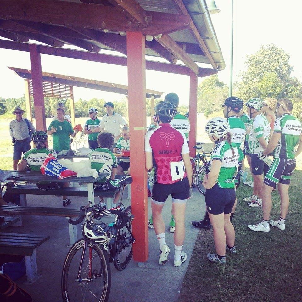 MarkC talks through racing tactics with some of the competitors.