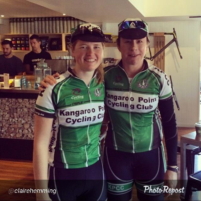 Claire and Jacinta; two of our ride leaders for the day.