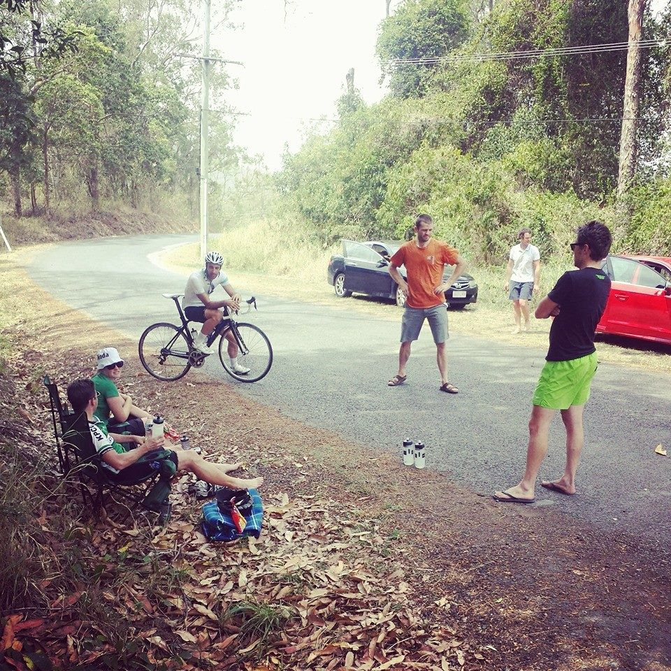 Break Time with @conzaaa who had succesfully #everested Mt Cootha the week prior dropping by to do a lap!