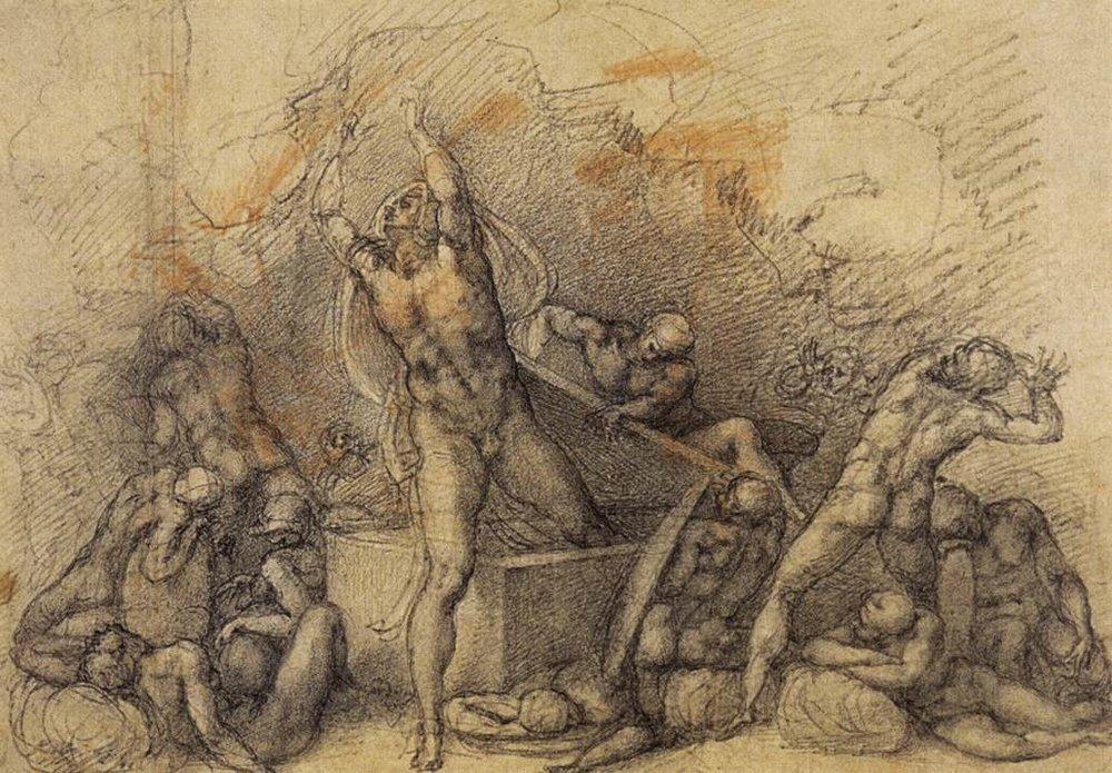 Michelangelo Bounarotti:  Feltámadás  (1520)