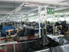 Bag production factory floor