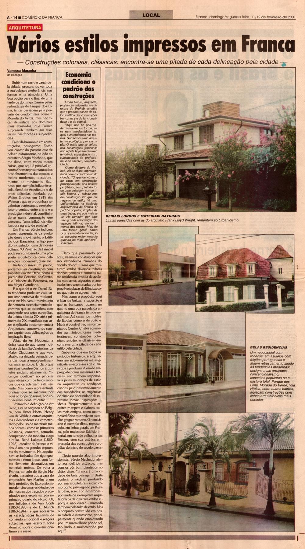 Entrevista Jornal Comércio da Franca - 2001 - 11 fevereiro.jpg