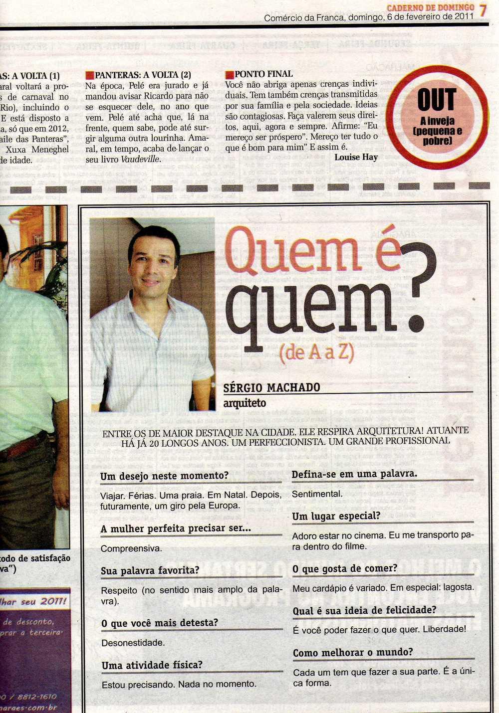 Entrevista Jornal Comércio da Franca - Caderno de Domingo - fev 2011.jpg