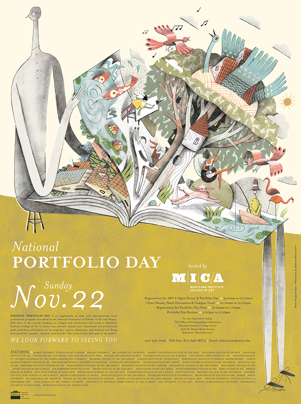 Poster design 2015 - National Portfolio Day 2015