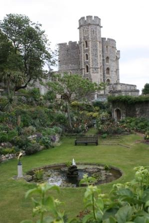 A garden at Windsor Castle