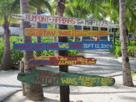 Official hurricane records at Rum Point