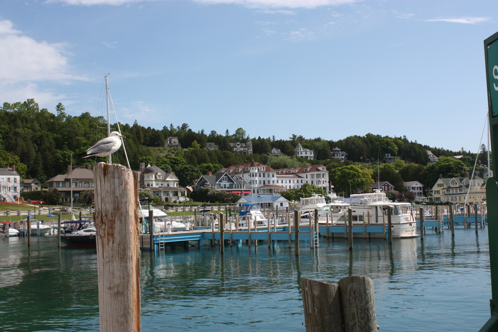 The Mackinac Island harbor