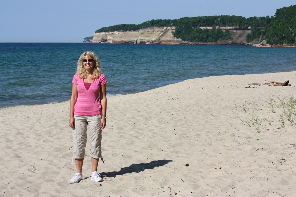 Miners Beach, with the Pictured Rocks cliffs in the background