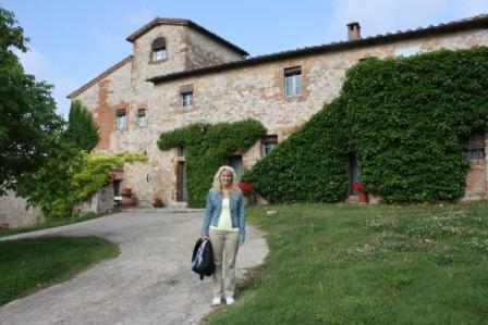 The Castel Bigozzi, where we stayed while in Tuscany. It was an embattled castle in the Middle Ages – very cool!