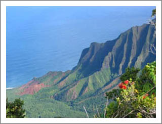 The Kalalau Valley on Kauai.  One of the most stunning overlooks I've ever seen!