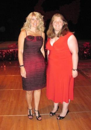 Toni and Lindsey at the Red Dress Party