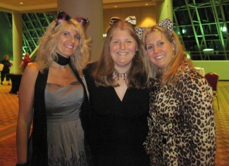 Toni, Lindsey, and Keri in cat ears