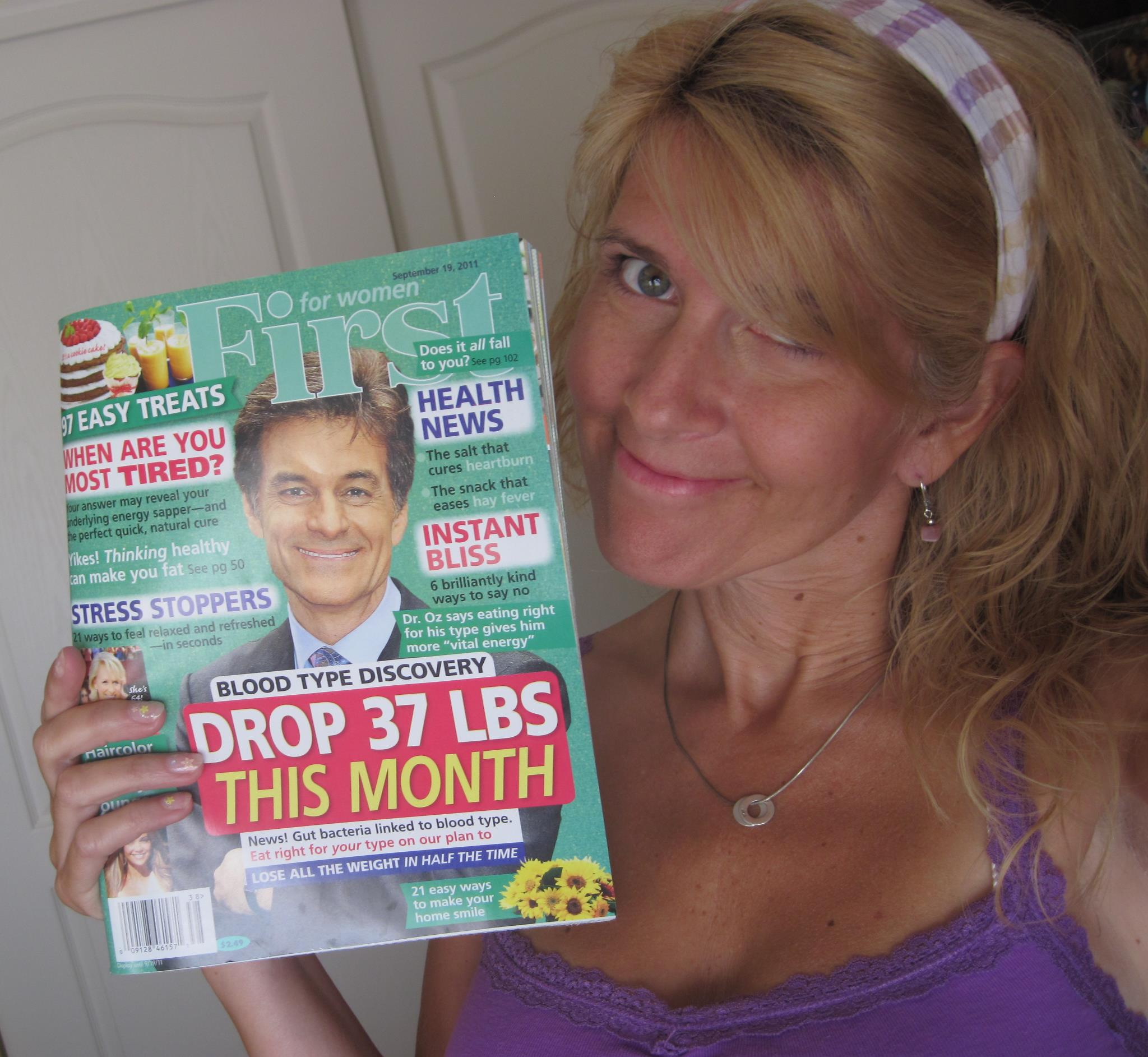 Toni with the September 19 issue of First Magazine
