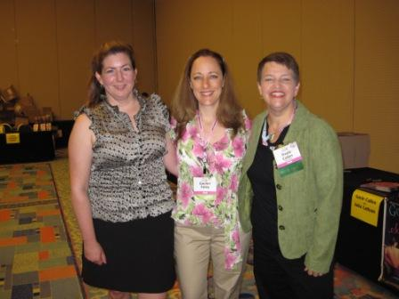 Authors Julie Anne Long, Gaelen Foley, and Gayle Callen before the Avon giveaway signing.