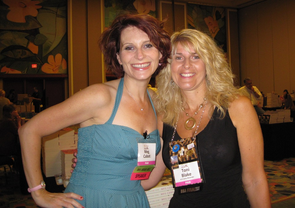 With fabulous author Meg Cabot of The Princess Diaries fame, who sat next to me at the Avon signing.