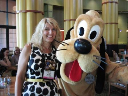 Our hotel was on the Disney properties, hence the photo op with Pluto.