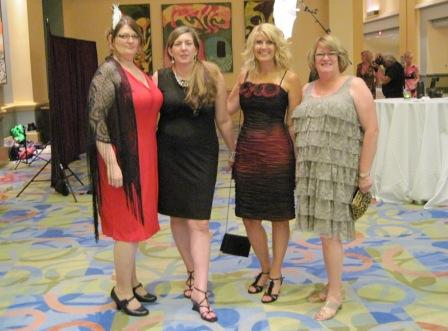 On Rita Awards night with friends Nikki Enlow, Julie Anne Long, and my longtime conference roommate, Jackie Floyd.