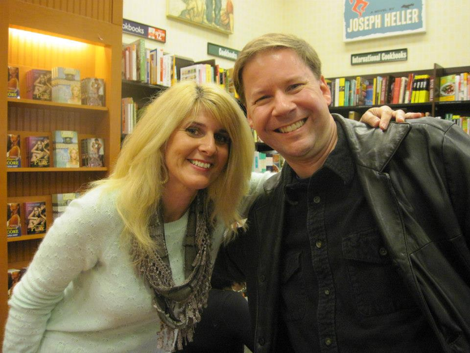 With my old friend, Dave, who was my critique partner for many years! Was great to see him!     — at   Barnes & Noble, Westchester, OH  .