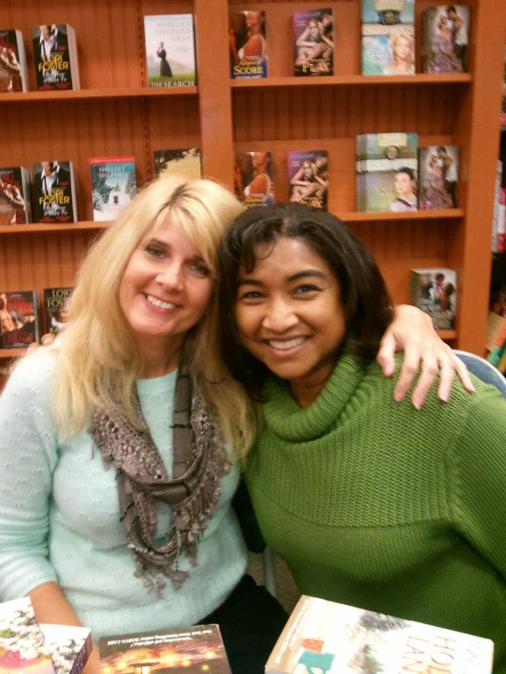 With sweet author friend Patricia Sargeant     — at   Barnes & Noble, Westchester, OH  .