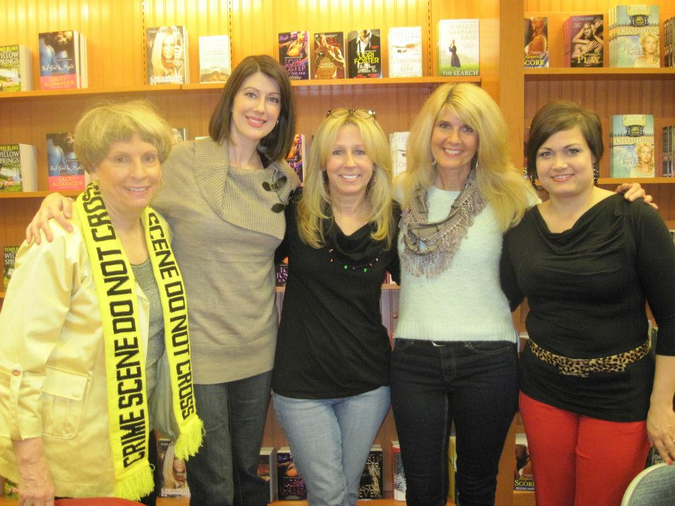Duffy Brown, Macy Beckett, Lori Foster, me, and Jules Bennett     — at   Barnes & Noble, Westchester, OH  .