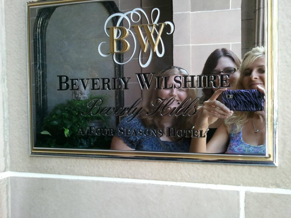 With Lindsey and Nikki at the Beverly Wilshire, where part of Pretty Woman was filmed.