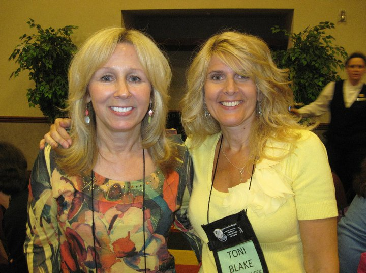 With author pal Lori Foster after our whirlwind online interview. Lucky I survived ; )