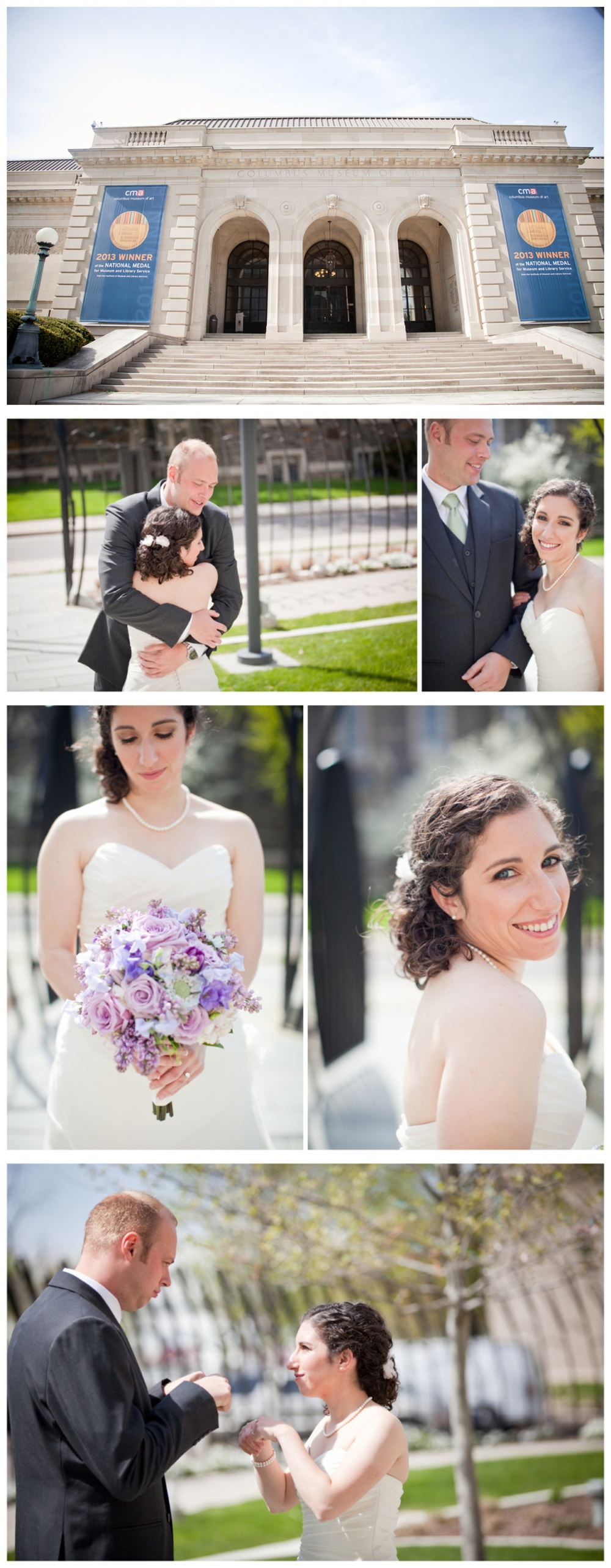 Ann + Tristan opted for a first look ; I trust any couple that fist-pumps before their wedding.