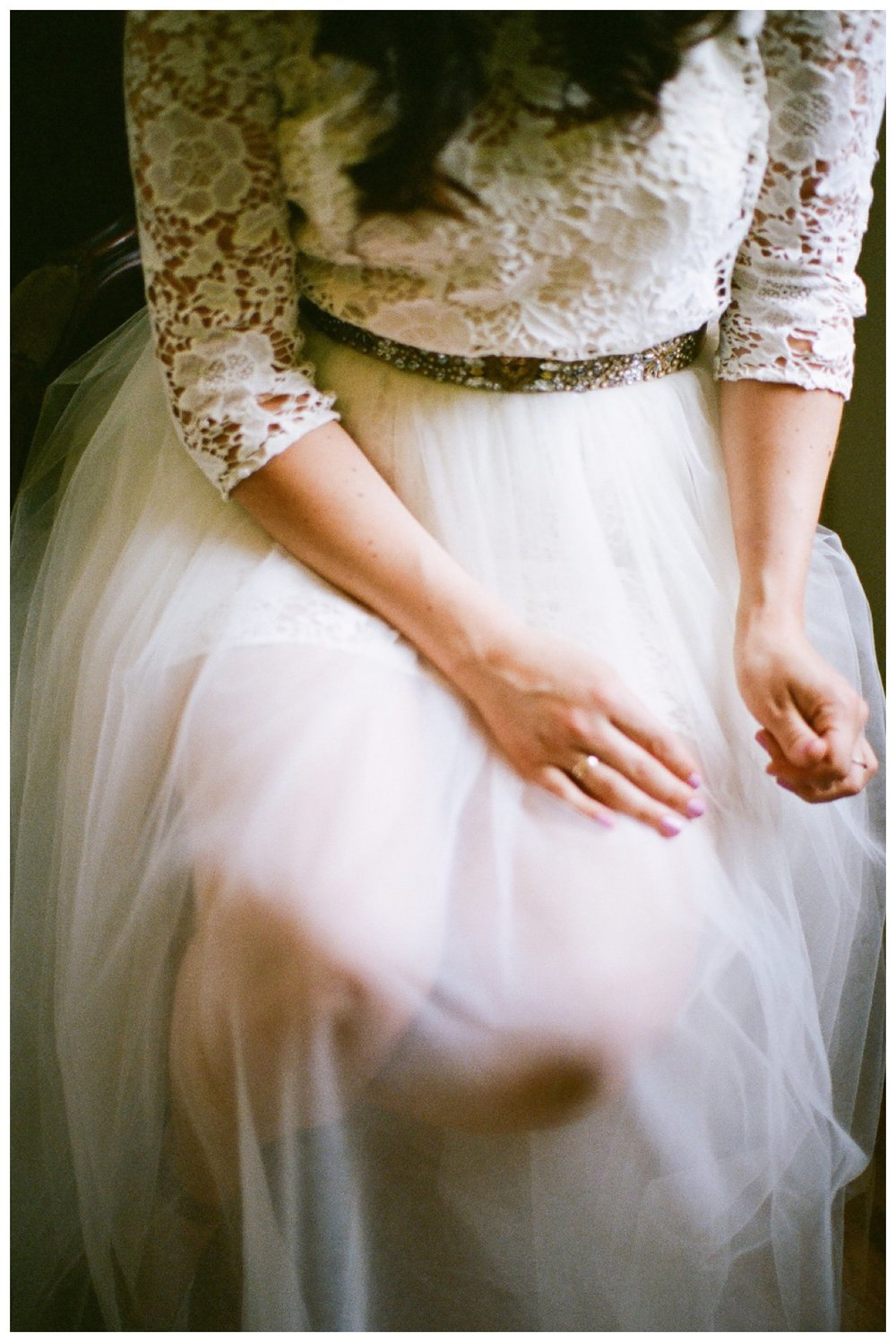 Fine Art Film wedding photographer Columbus Ohio Lily Glass Photography madewell wedding dress