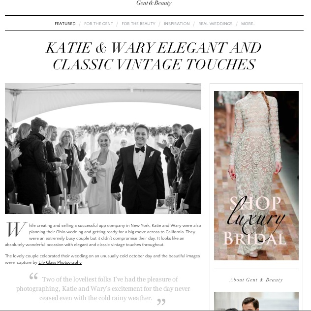 Gent & Beauty Wedding Feature   Lily Glass Photography
