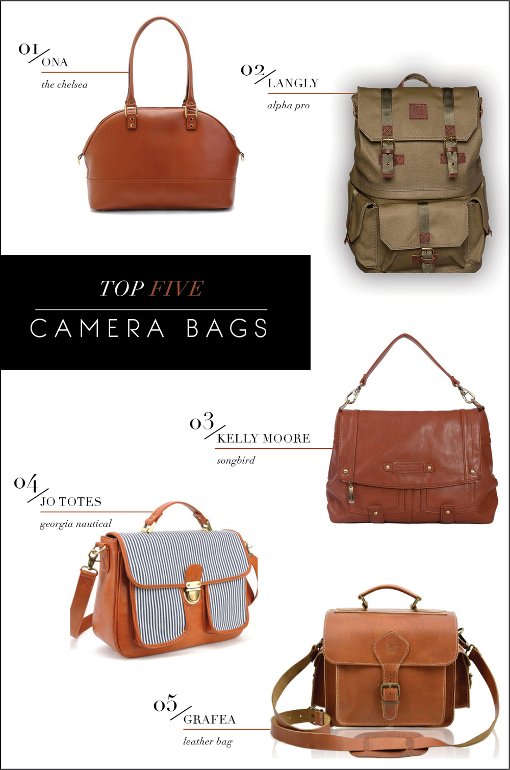 Form & Function | Favorite Camera bag picks from Lily Glass