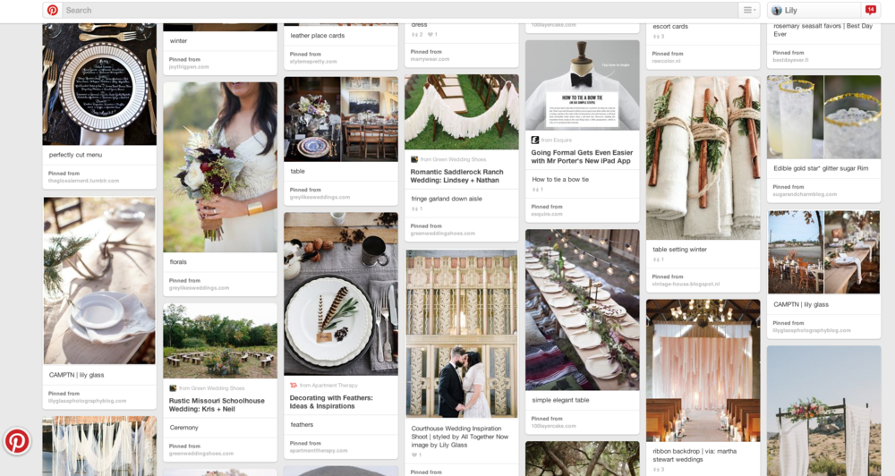 utilizing pinterest to find your dream wedding photographer | lily glass