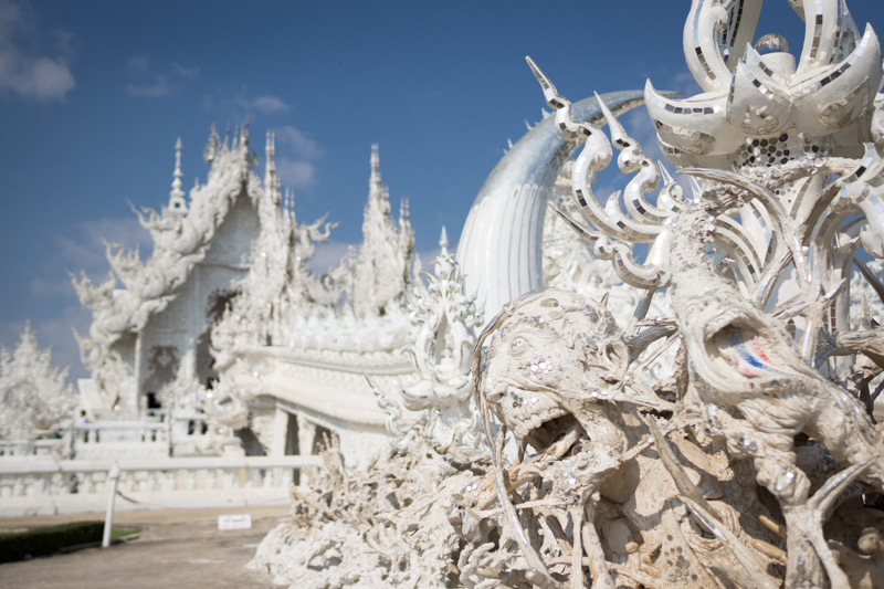Wat Rong Khun, the white temple.