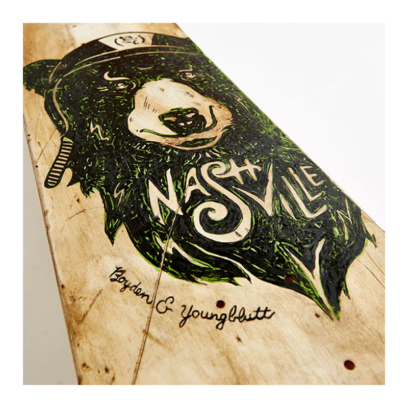 B&Y Nashville Bear Skateboard