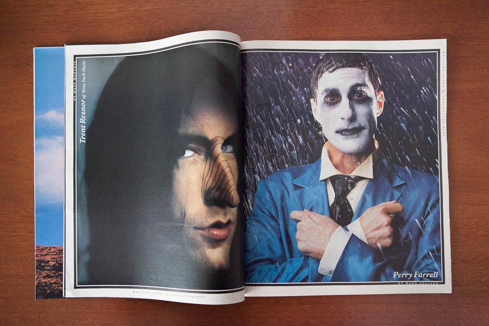 Trent Reznor por Matt Mahurin / Perry Farrell por Mark Seliger.