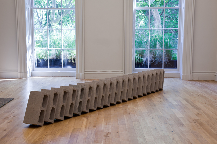 Dylan Lynch  Chain Gang 2012 Cinderblocks 90 x 17 x 17 inches