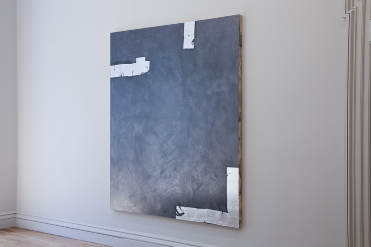 Brendan Lynch Light Year 2012 Graphite and aluminum leaf on wood panel 84 x 72 inches