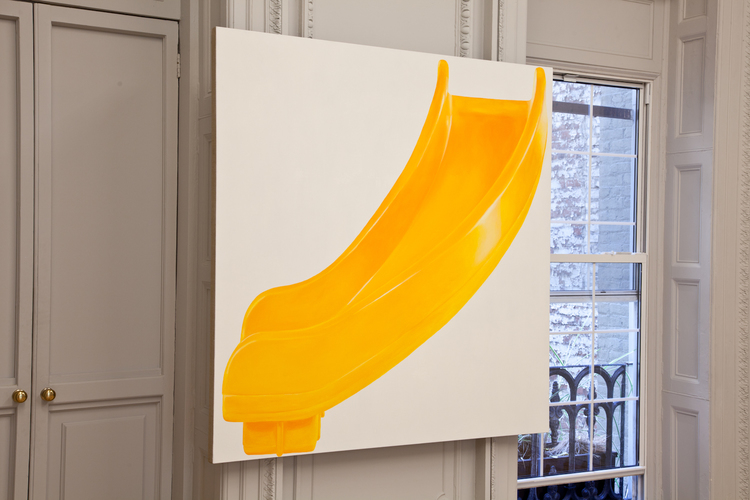 Louis Eisner Yellow Right Turn 2012 Oil on linen 64 x 62 inches