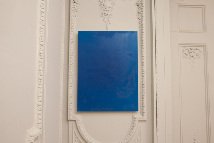 Alex Perweiler  Untitled (Blue Steel) 2012 Buffed c-print on aluminum panel 40 x 30 inches
